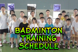 LeePenang Badminton Training Schedule